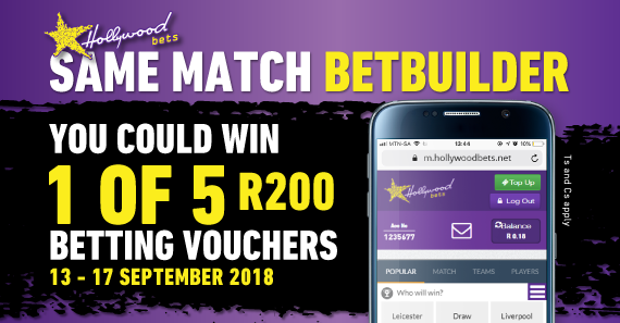 Same Match Betbuilder Promotion - Terms and Conditions
