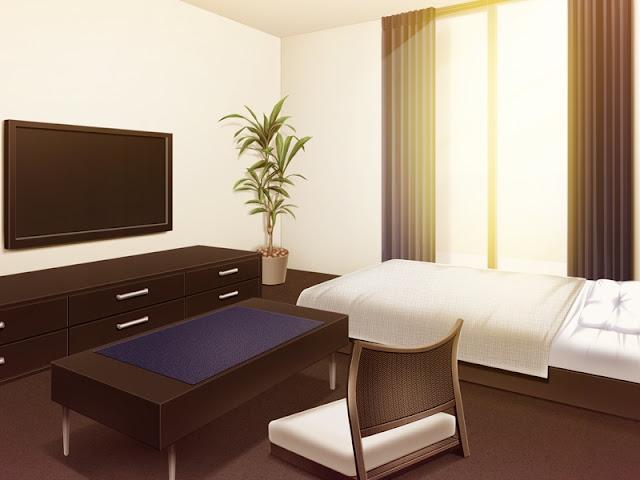 Single Hotel Bedroom (Anime Background)