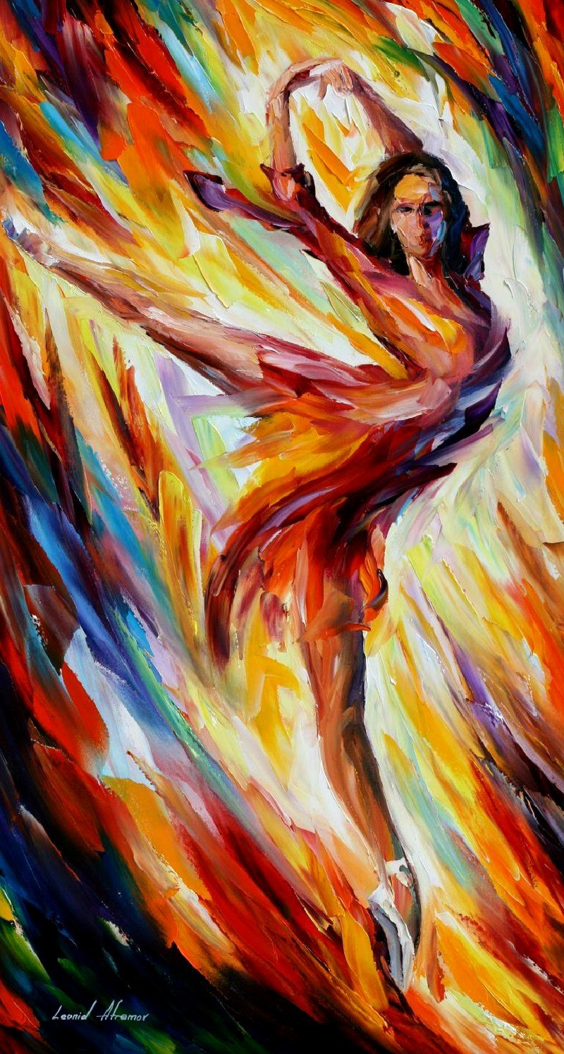 Passion n fire by Leonid Afremov