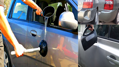 Tips and trick with boiling water you can do this for your car, what you should never do to your car,using boiling water to get car dents out,car,things not to do to your car,tips,never start your car like this,car care,boiling water cupholder,boil water in car,how to clean your car,dent repair with hot water,interior car cleaning,paint your car,boiling water,can i use hot water to deice my windshield,tricks to starting a car,water,clean car