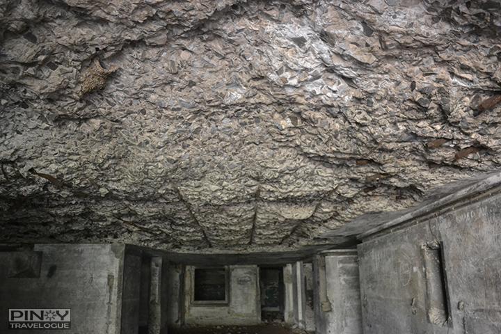 Inside the ruined barracks of Carabao Island