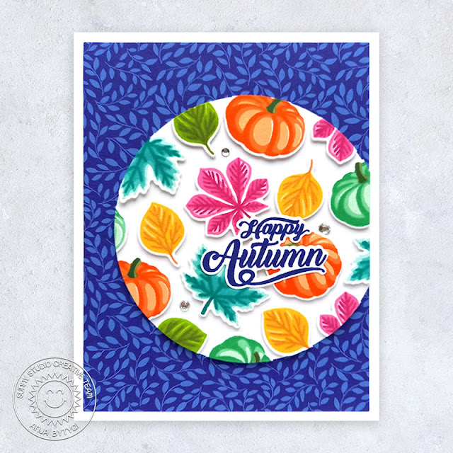 Sunny Studio Stamps: Crisp Autumn Fall Themed Card by Anja Bytyqi