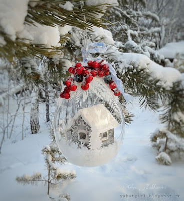 #winter#homedecor#glassball#alter#alteredart#
