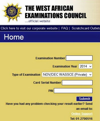 CHECK MAY/JUNE WAEC RESULT HERE