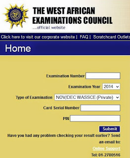 CLICK HERE TO CHECK WAEC RESULT