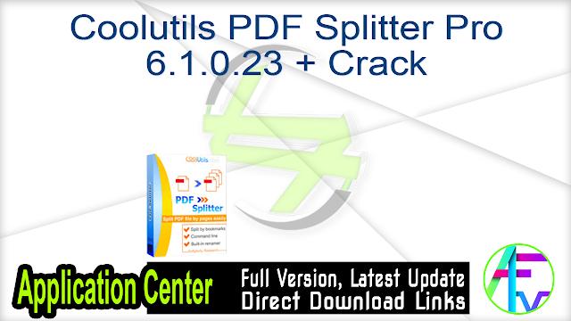 Coolutils PDF Splitter Pro 6.1.0.23 + Crack