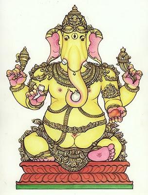 Tryakshara Ganapati