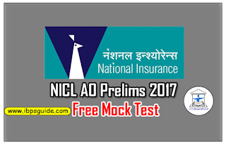 NICL AO Prelims 2017 – Free Mock Test – 1 | Download in PDF