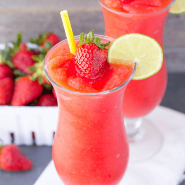 Strawberry Vodka Slush