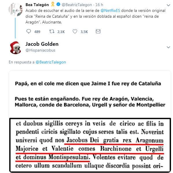 Bea Talegón VS Jacob Golden, netflix, reina de Aragón,