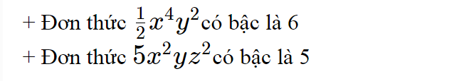 vi du ve don thuc,he so cao nhat cua don thuc la gi,tim bac cua don thuc,bac la gi,tich cua don thuc la gi,don thuc la gi,Ví dụ về đơn thức,Tích của đơn thức là gì,Tìm bậc của đơn thức,Hệ số cao nhất của đơn thức là gì