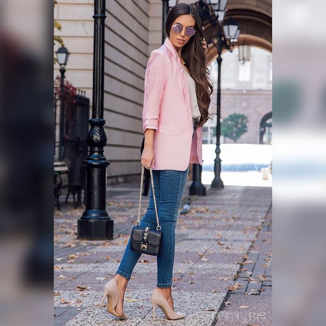 Γυναικείο  ροζ σακάκι MILANITA PINK