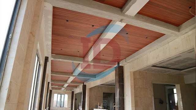Pemasangan lambersering plafon kayu Keruing
