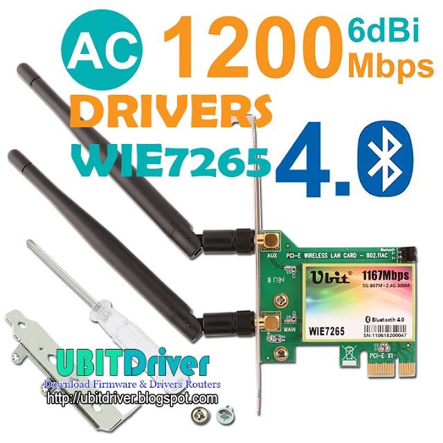 Ubit Driver WIE7265 WiFi Card AC 1200Mbps
