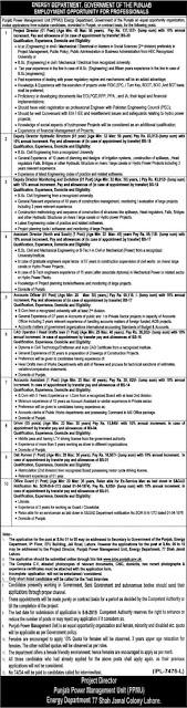Energy Department Punjab Jobs 2019 Online Form Download