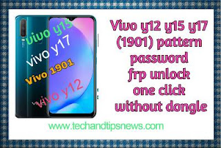 Vivo y12 y15 y17 (1901) pattern and password frp unlock by miracle 2.82 one click without dongle
