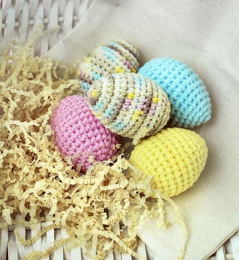 Пасхальные яйца: описание крючком