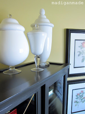 Diy painted milkglass apothecary jars rosyscription - What temperature is too cold to paint outside ...