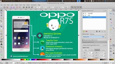 Desain kontes blog OPPO dengan Inkscape di Linux