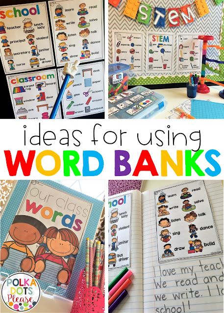 Ideas for Using Word Banks