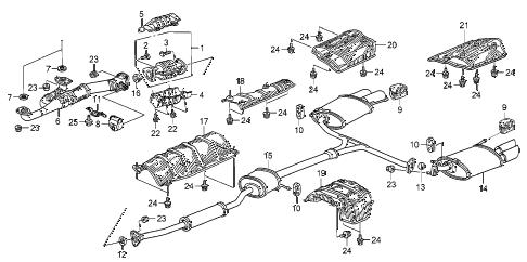 2007 Honda Civic Rattling Inside Catalytic Converter Inspect The Exhaust System For Leaks Downstream O2 Sensor Check Broken Wires On