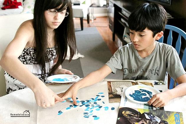 kids thumbprinting