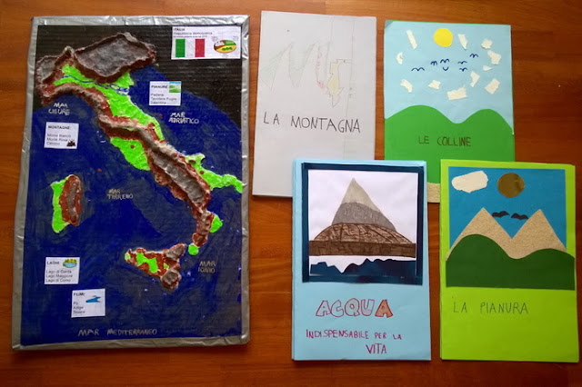 montagne colline e pianure in italia