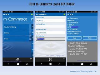 Fitur m-Commerce pada BCA Mobile Beli Pulsa jadi Mudah
