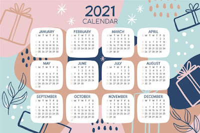 kalender vector 2021
