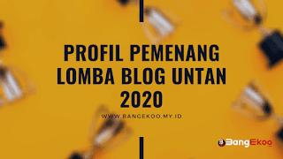 lomba blog dan kontes untan 2020