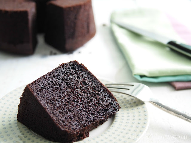 Japanese Dark Pearl Chocolate Chiffon Cake