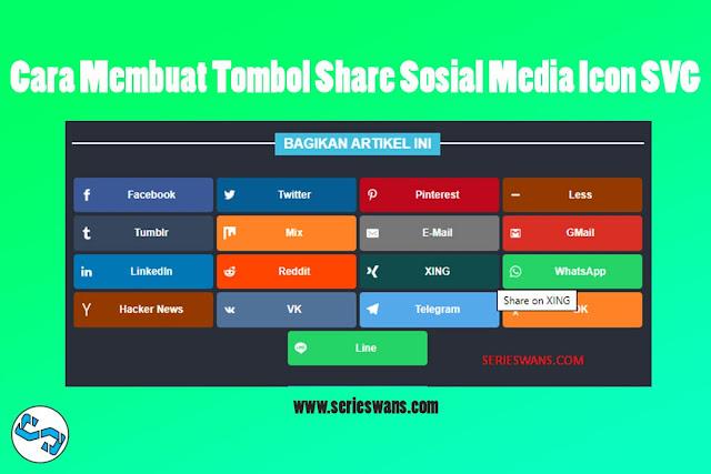 Membuat Tombol Share Sosial Media di Blog dengan Icon SVG