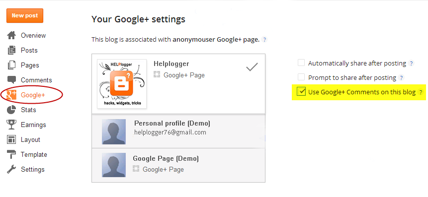 use google+ comments on this blog, blogger tutorial