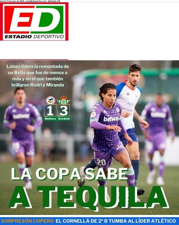 """Betis, Estadio Deportivo: """"La Copa sabe a tequila"""""""