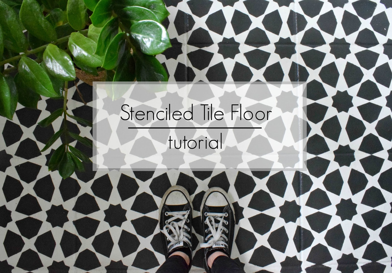 Oops i did it againinted tile floor 20 make do and diy how to stencil a tile floor with chalk paint to get the look of moroccan tile dailygadgetfo Gallery