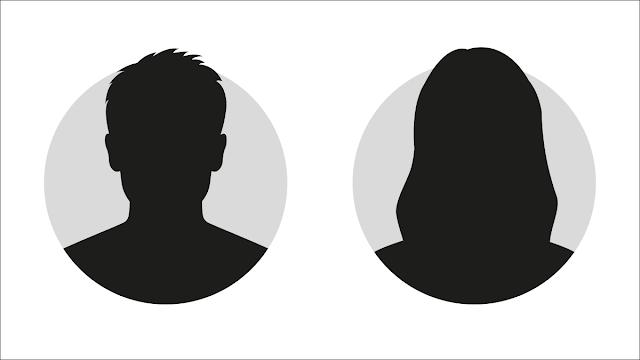 صورة ظلية لشخصين مجهولين.