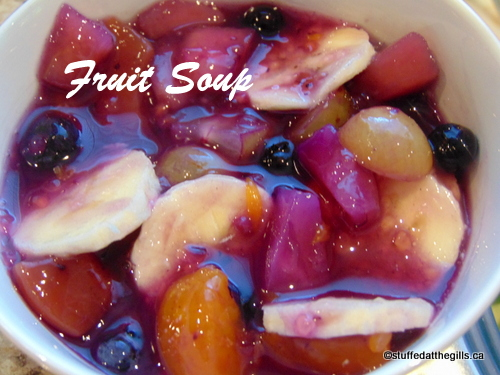 Fruit Soup with Blueberries