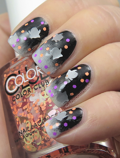 Halloween nail art tutorial with Color Club Nailmoji Neons