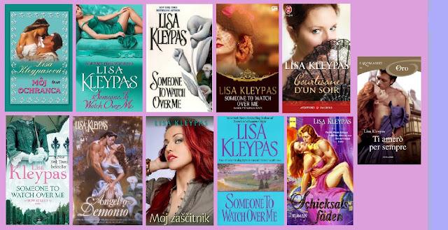 Portadas de la novela romántica histórica Ángel o demonio, de Lisa Kleypas.