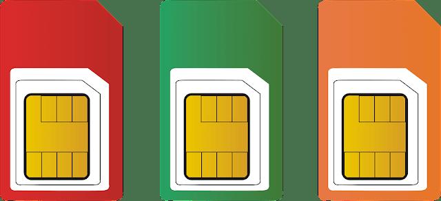 الاحجام المختلفة لشريحه اتصال الهواتف المحمولة