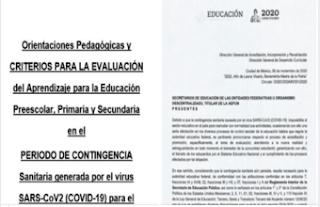 Orientaciones Pedagógicas y Criterios para la Evaluación del Aprendizaje