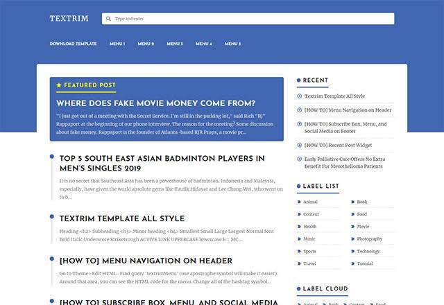 download textrim blogger, gratis, template blogger terbaik