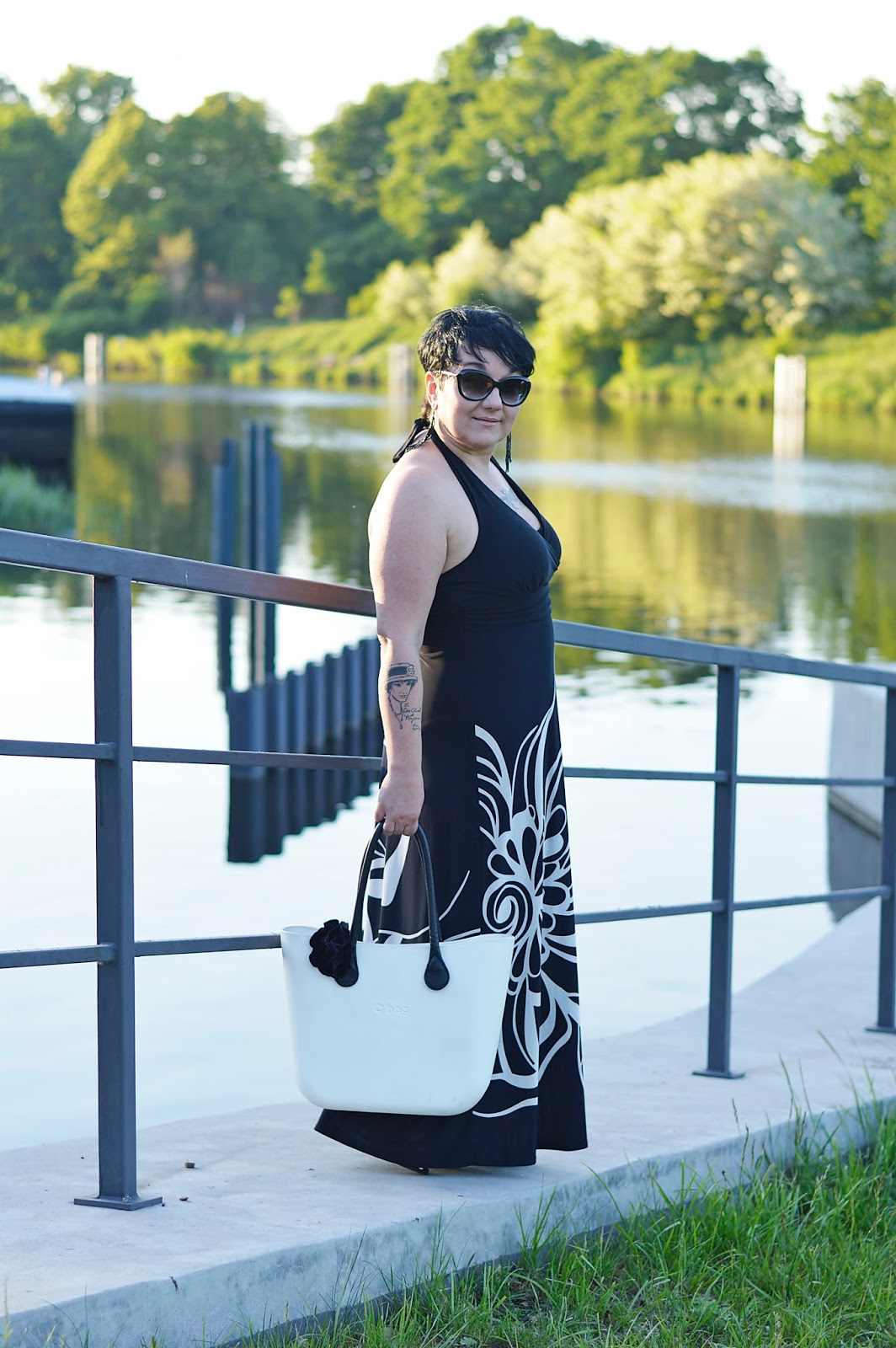 Summer 2018 trends, black and white maxi dress, Fashion 2018