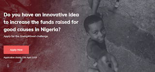 Apply for Giving4Good Challenge for Nigerians | £35,000 Funded