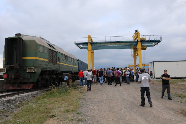 Huelga en el ferrocarril Bakú-Tbilisi-Kars en huelga