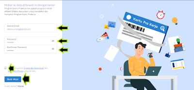 cara mendaftar kartu prakerja online