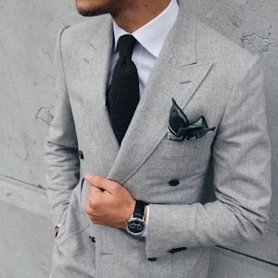Gri renk kruvaze ceket