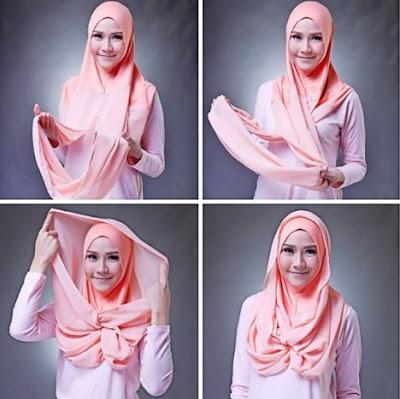 Tutorial Memakai Hijab Pashmina Kaos Modern Terbaru 2016