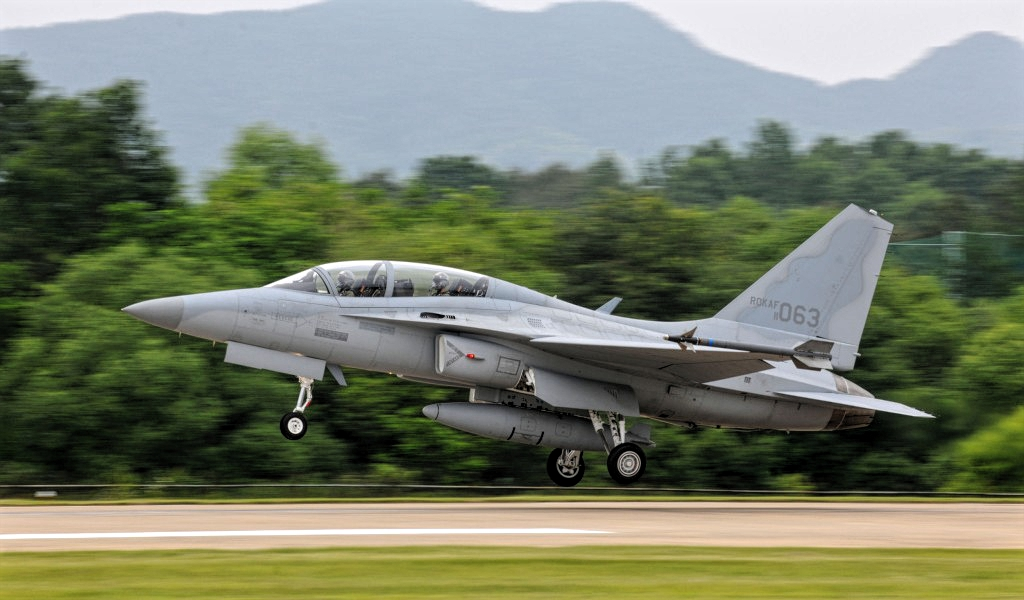FA-50 Fighting Eagle of Philippines Air Force Takeoff