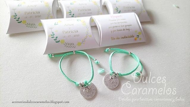 pulsera grabada boda